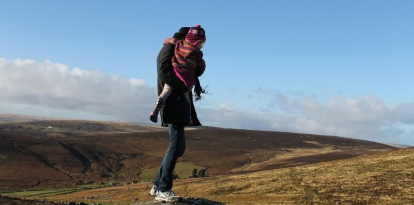 Husband and child in Dartmoor on Boxing Day. Resolution for 2014 is to take photos of things – such as the view from the cottage – that I actually write about in my blog posts.