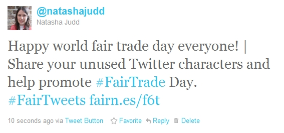 Fair Trade Day tweet